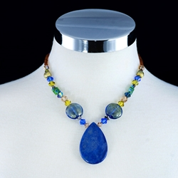 Blue Lapis Pendant Necklace