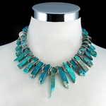 Turquoise Graduated Stones Necklace