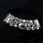 Ice Crystal Quartz & Biwa Pearls Gemstone Bracelet