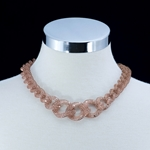 Rose Gold Mesh Chain Link Necklace