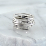 Silver  Continuous Wrap Ring