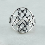 Hearts Intertwined Silver Ring